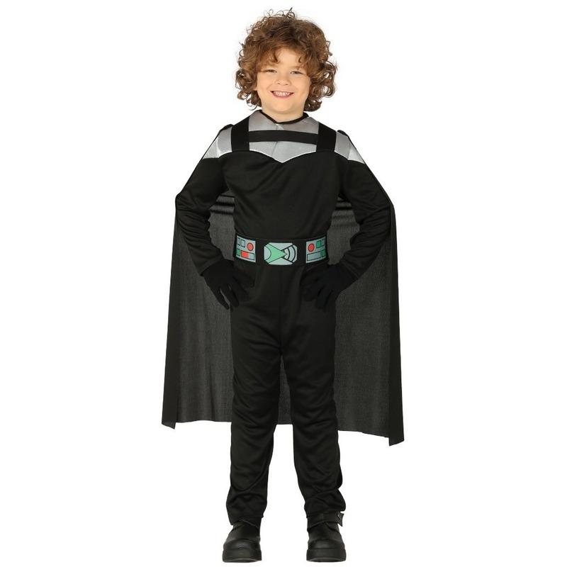 Carnaval space ridder verkleedset voor kinderen 10-12 jaar (140-152) Zwart