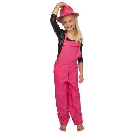 Carnaval tuinbroek roze voor kinderen 128 (8 jaar) Roze