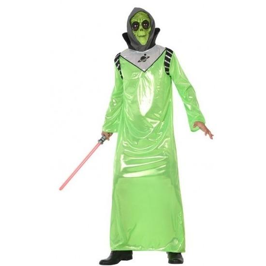 Carnavalskleding alien/buitenaards wezen voor volwassenen M/L (38-40) Groen