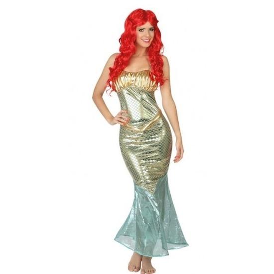 Carnavalskleding Ariel zeemeermin voor dames XS/S (34-36) Multi