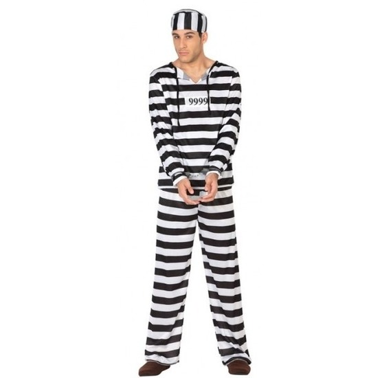 Carnavalskleding boef/crimineel Clyde voor heren XL Multi