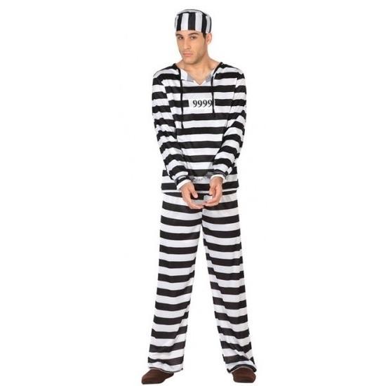 Carnavalskleding boef/crimineel Clyde voor heren M/L Multi