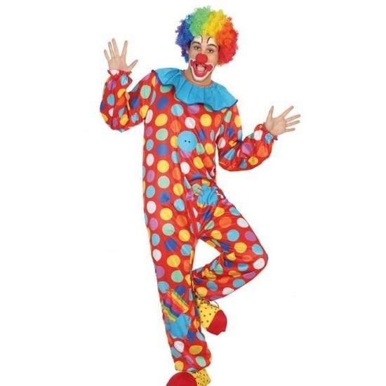 Carnavalskleding clown voor heren XL Multi