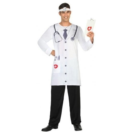 Carnavalskleding doktoren/chirurgen heren XL Wit