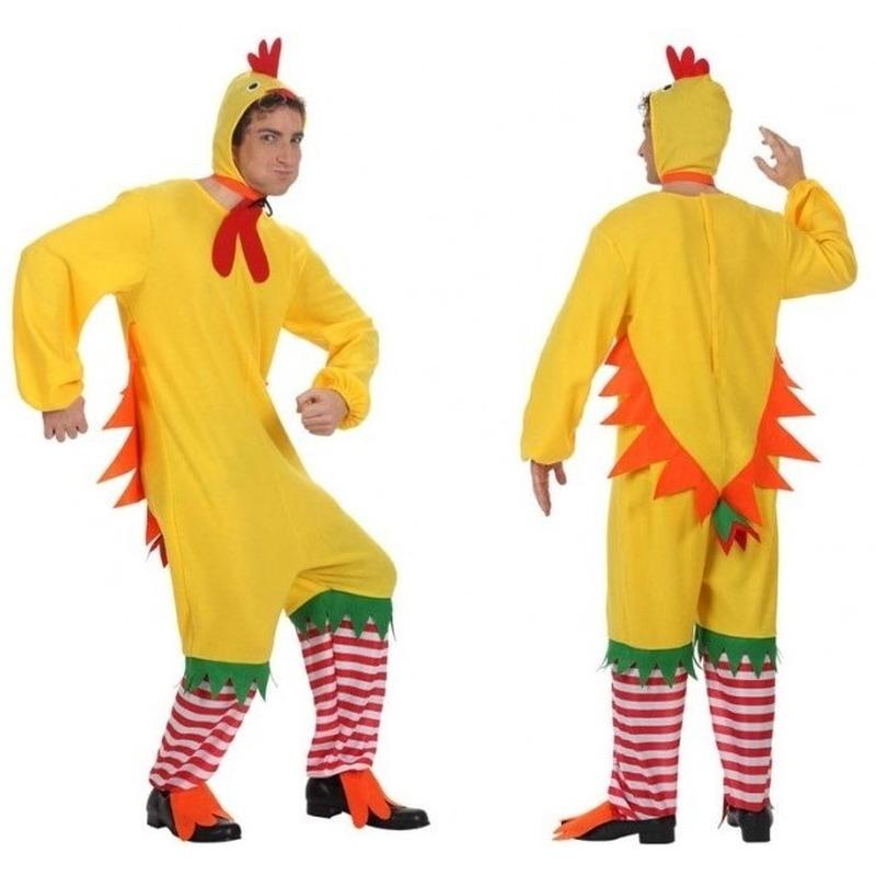 Carnavalskleding haan/kip/kuiken voor heren M/L Geel