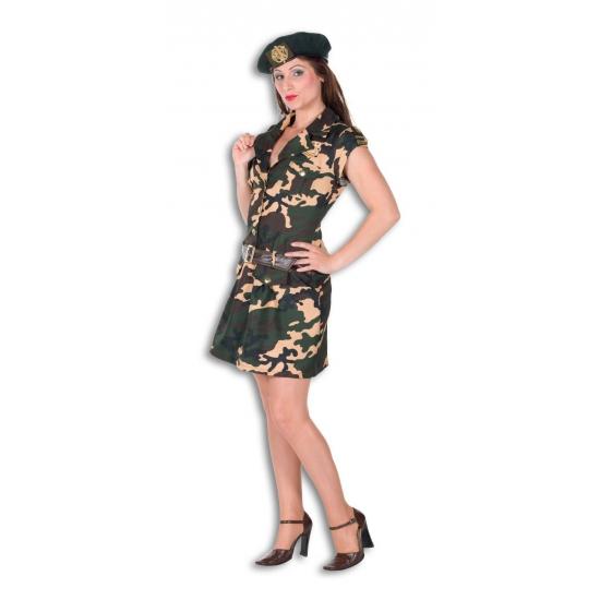 Carnavalskleding leger dames 36 (S) Groen