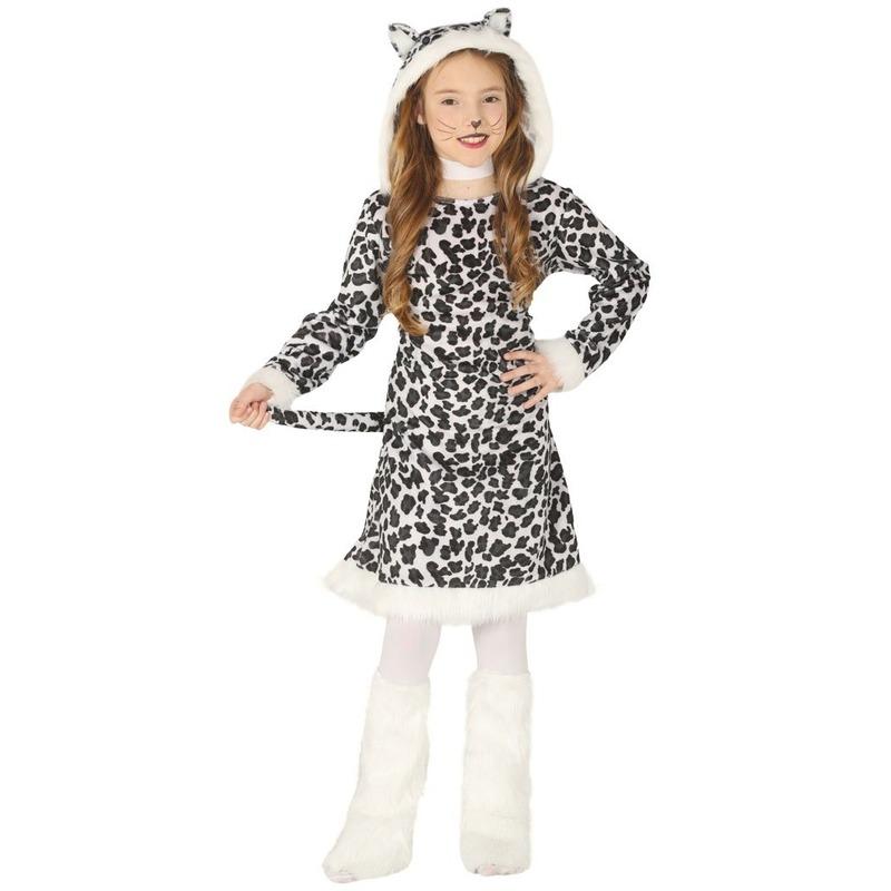 Carnavalskleding luipaard kostuum voor meisjes 7-9 jaar (122-134) Multi
