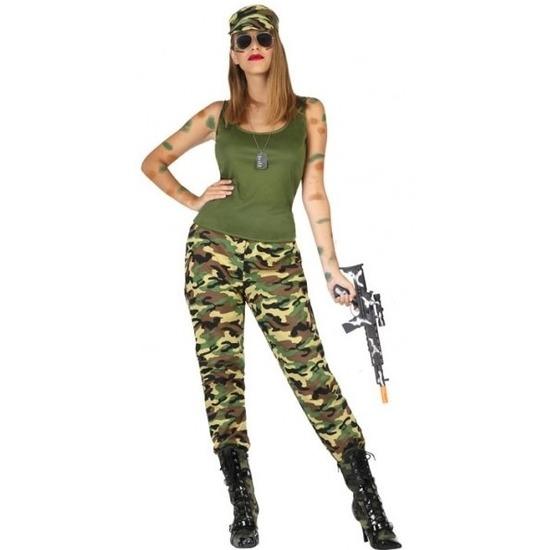 Carnavalskleding militair/soldaat voor dames M/L (38-40) Multi