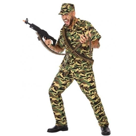 Carnavalskleding militair/soldaat voor heren XL Multi