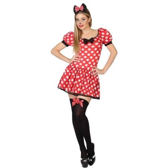Carnavalskleding Minnie muisje voor dames XL (42-44) Multi