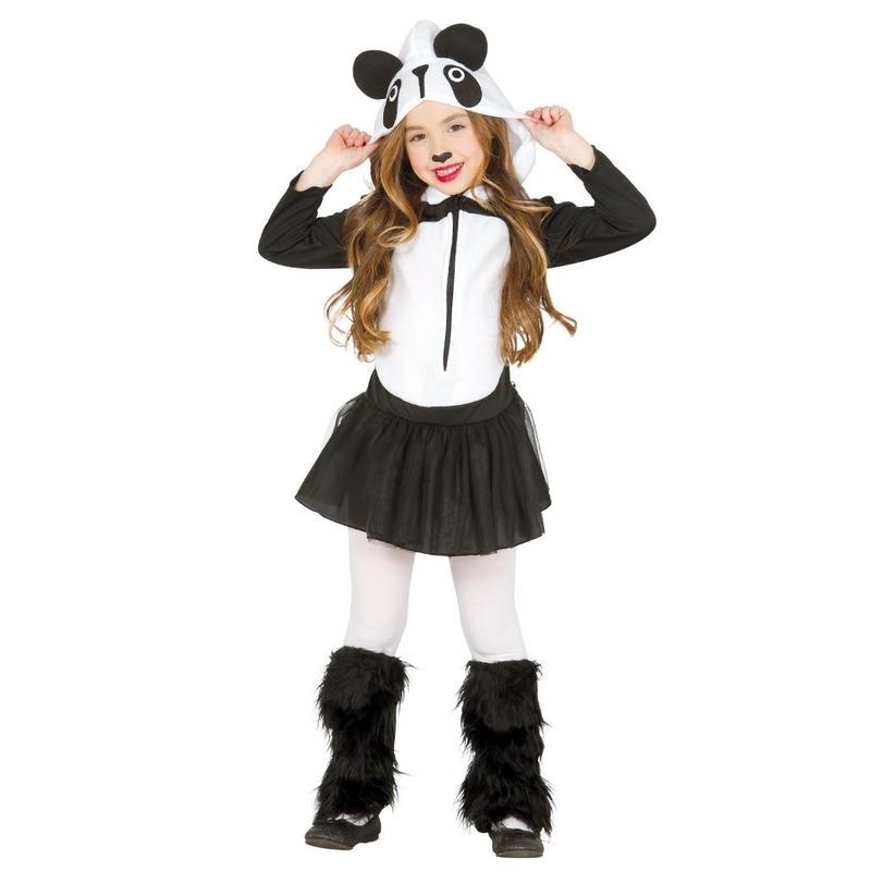 Carnavalskleding panda kostuum voor meisjes 10-12 jaar (140-152) Multi