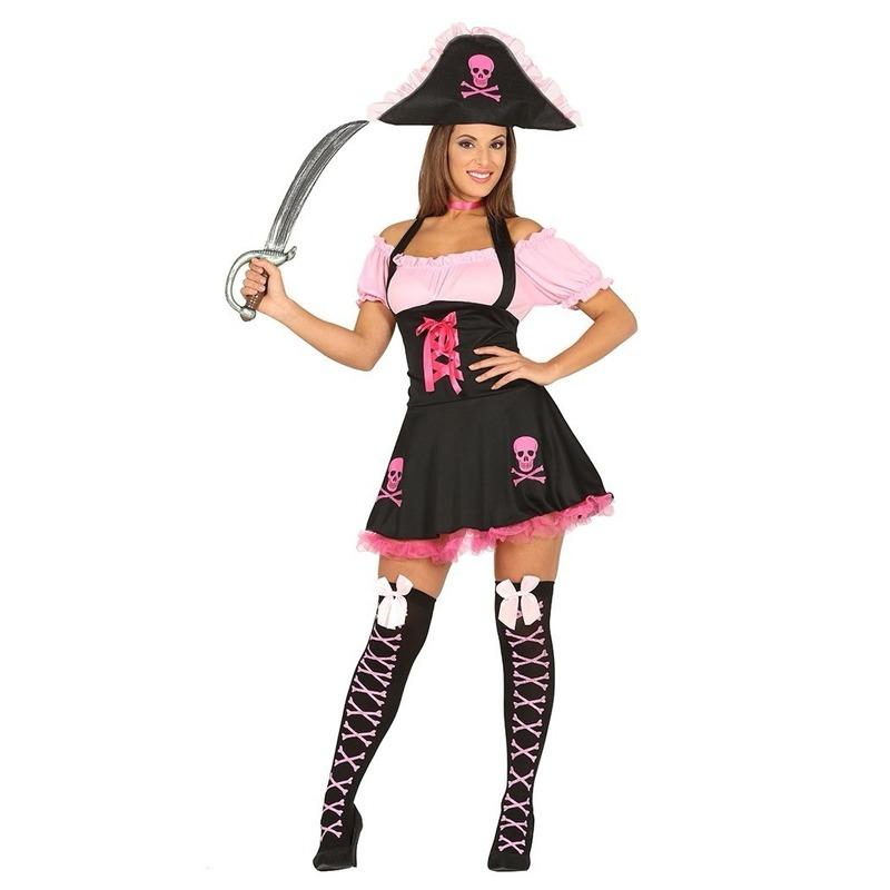 Carnavalskleding piraten jurk voor dames 38-40 (S/M) Roze