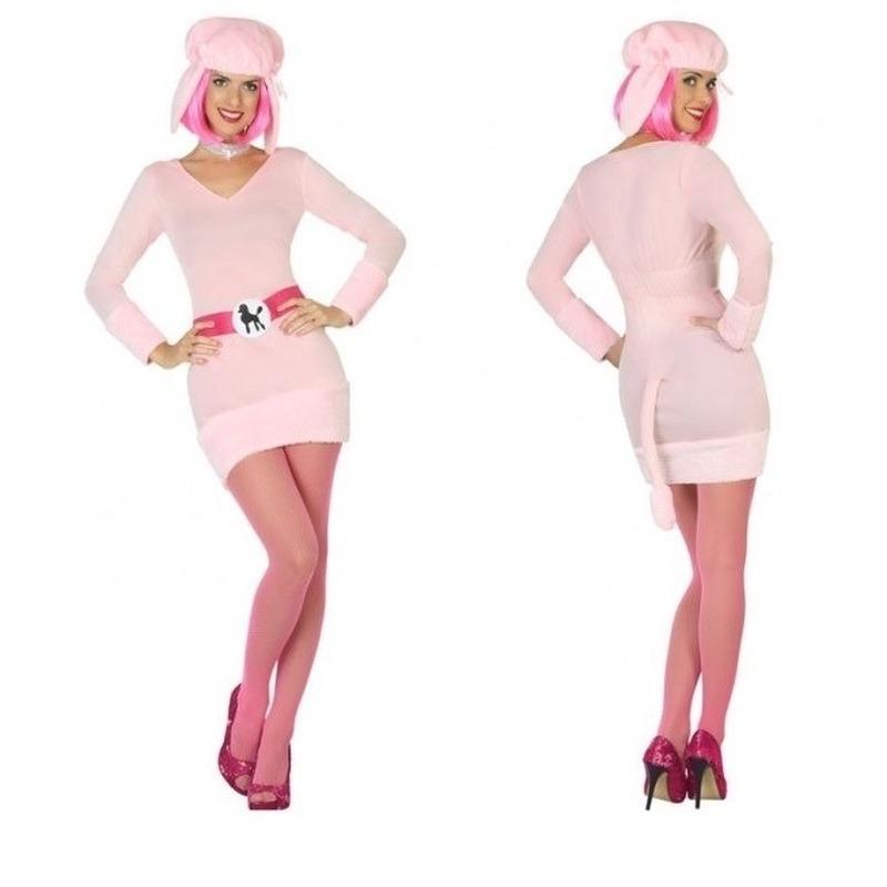 Carnavalskleding poedel voor dames XS/S (34-36) Roze