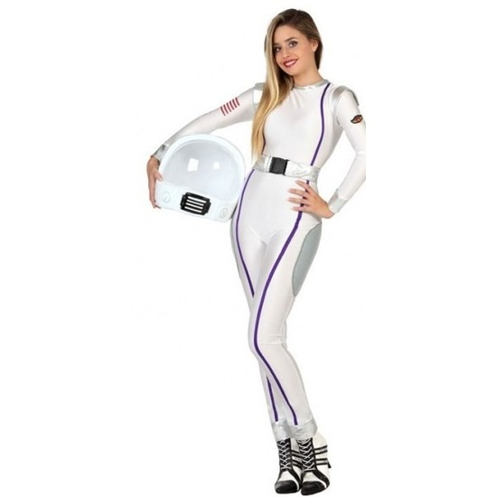 Carnavalskleding ruimte astronaut voor dames XS/S (34-36) Wit
