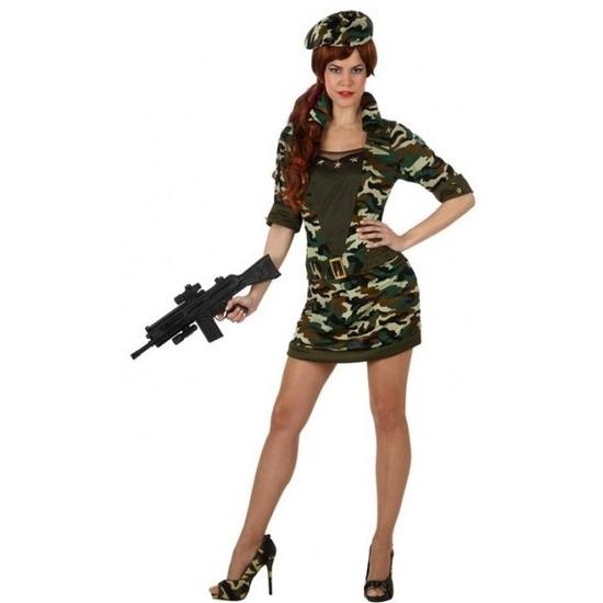Carnavalskleding soldaat/militair voor dames M/L (38-40) Multi