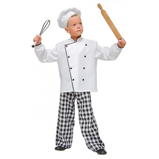 Chef kok pak voor kinderen 116 Wit