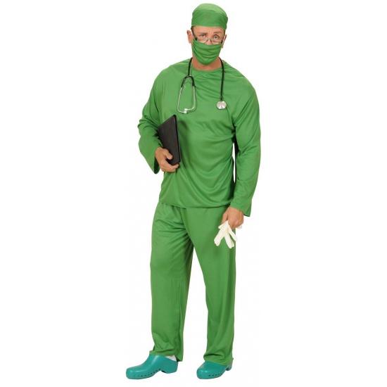 Chirurg carnavalskostuum voor heren M Groen