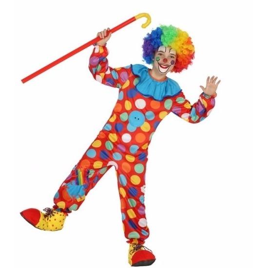 Clown Dots verkleedkleding voor jongens 128 (7-9 jaar) Multi