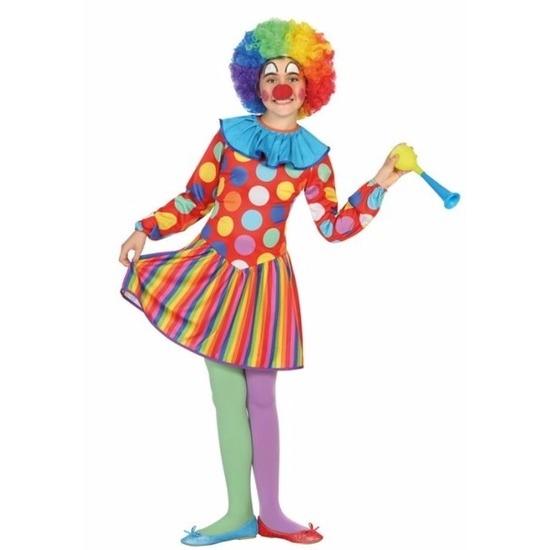 Clown Dotty verkleedjurk voor meisjes 128 (7-9 jaar) Multi