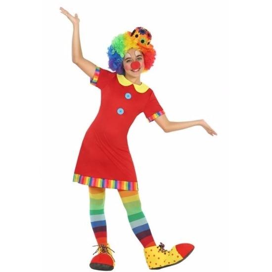 Clown Floppy verkleedjurk voor meisjes 116 (5-6 jaar) Multi