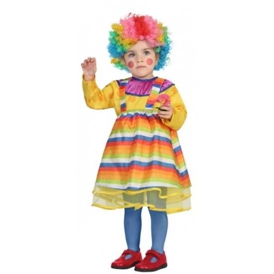 Clown jurkje verkleedkostuumvoor peuters 12-24 maanden (80-92) Multi
