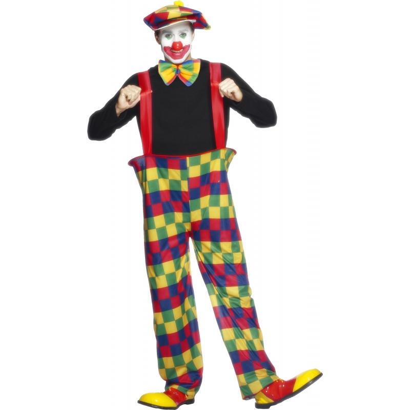 Clownspak voor heren M Multi