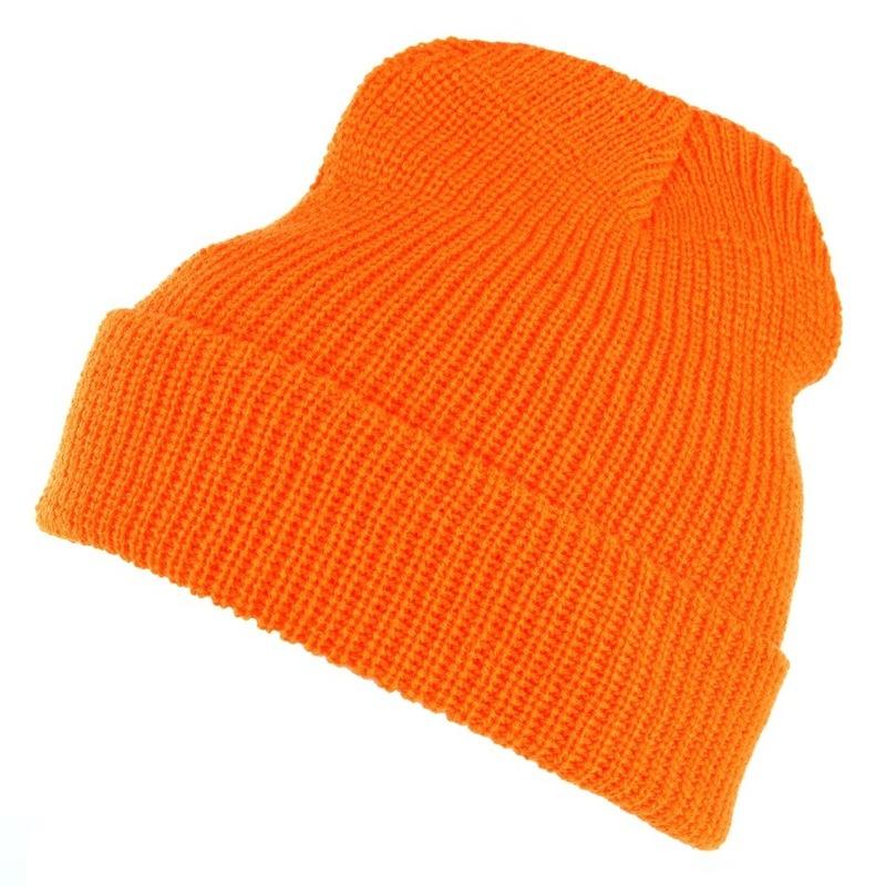 Commando winter muts oranje Mutsen volwassenen