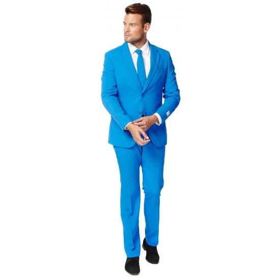 Compleet blauw kostuum voor heren 58 (4XL) Blauw