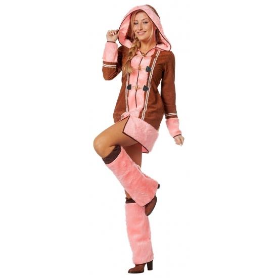 Compleet Eskimo kostuum voor dames 38 (M) Multi