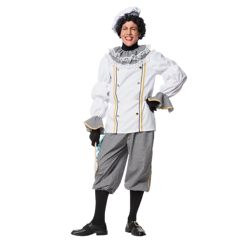 Compleet Pieten kostuum kok 52-54 (L/XL) Wit