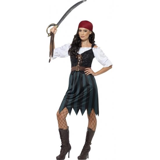 Compleet piraten kostuum voor dames 44-46 (L) Multi