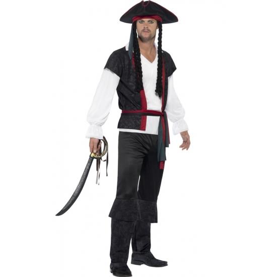 Compleet piraten kostuum voor heren 52-54 (L) Multi