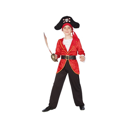 Compleet piratenkostuum kids 130-140 (10-12 jaar) Multi