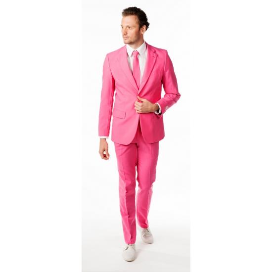 Compleet roze kostuum voor heren 52 (XL) Roze
