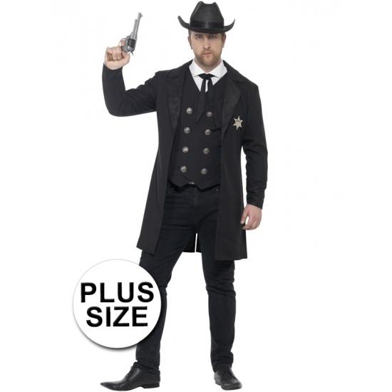 Compleet sheriff kostuum voor heren 56-58 (XL) Zwart