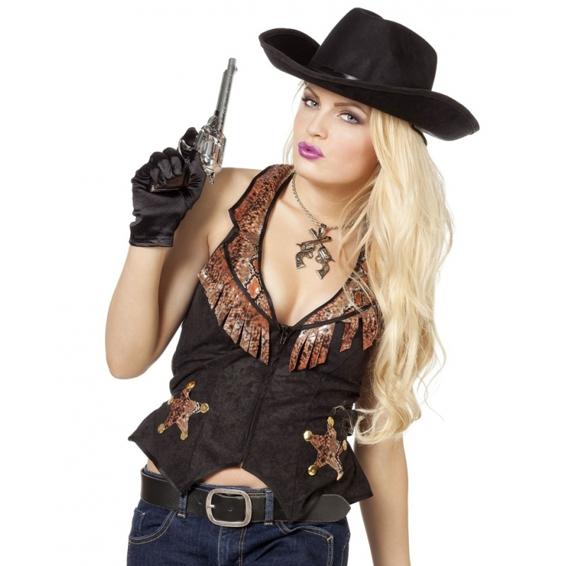 Cowgirl / cowboy kleding vestje voor dames 42 (XL) Multi