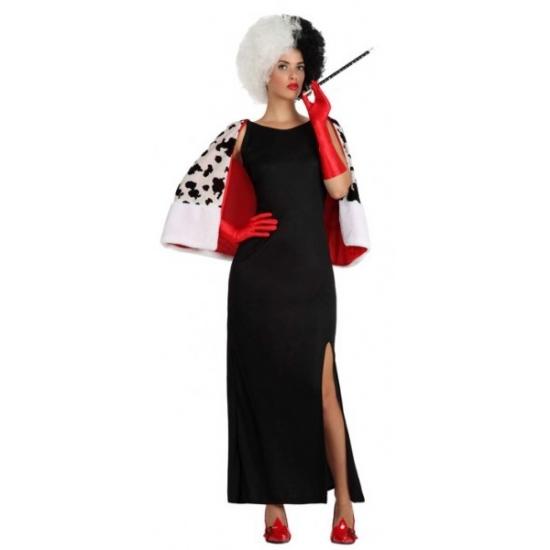 Cruel dames jurk met stola voor dames XL Zwart