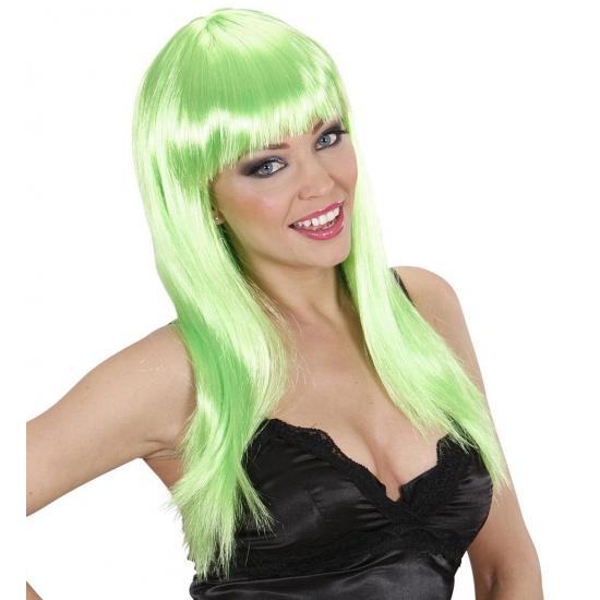 Damespruik groen stijl haar