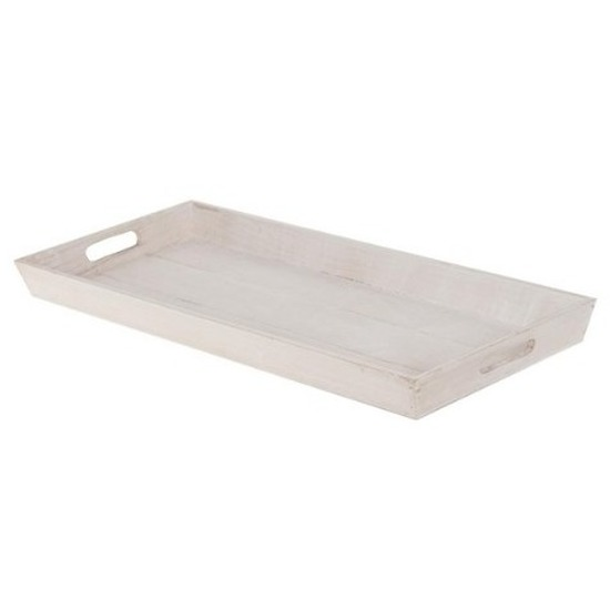 Woondecoratie houten dienblad wit 58 cm Wit