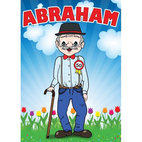 Deur poster Abraham -