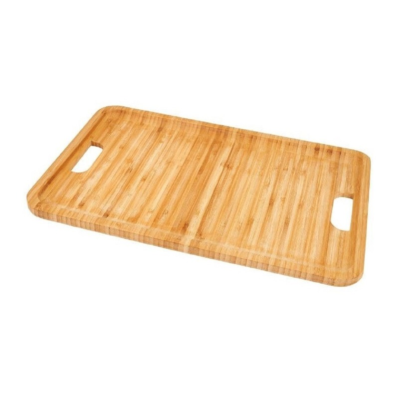 Bamboehouten dienblad/serveerblad 43 cm Bruin