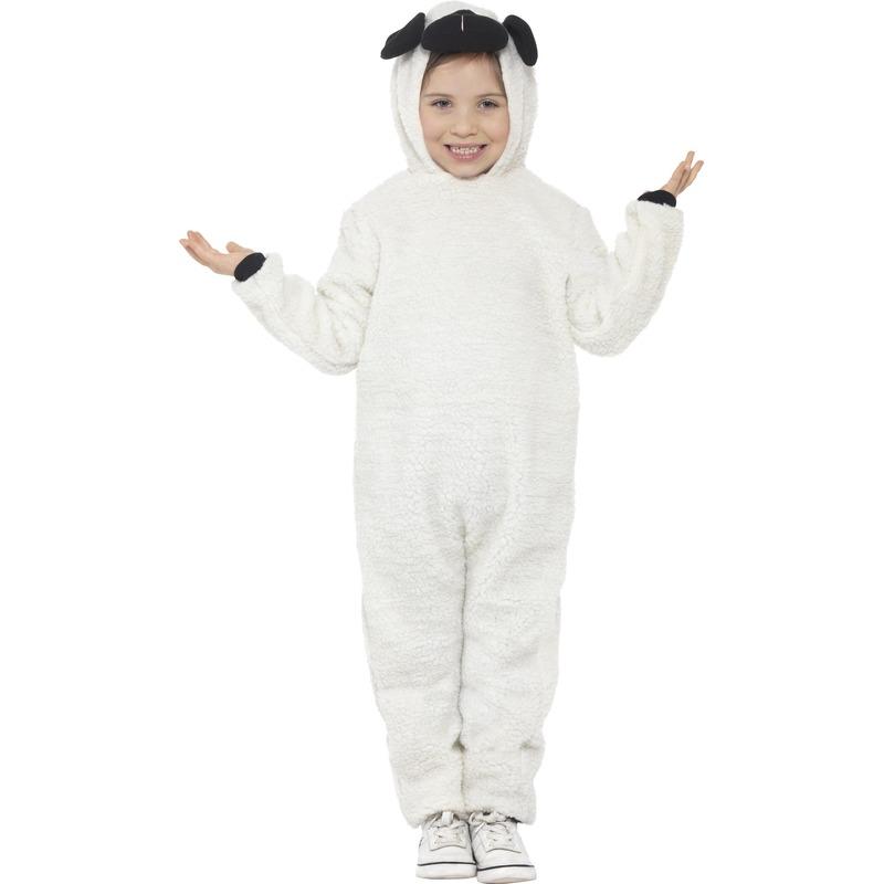 Dieren kostuum schaap voor kinderen 158-174 (12-16 jaar) Wit