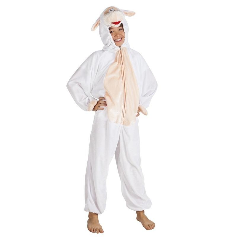 Dieren kostuum schaap voor kinderen 116 Wit