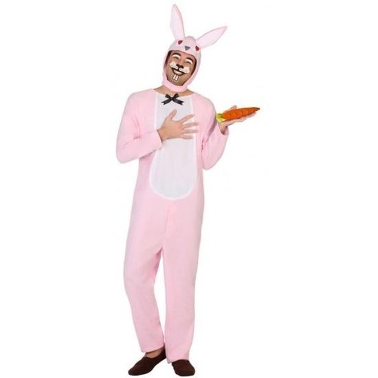 Dieren onesie paashaas/konijn voor volwassenen XL Roze