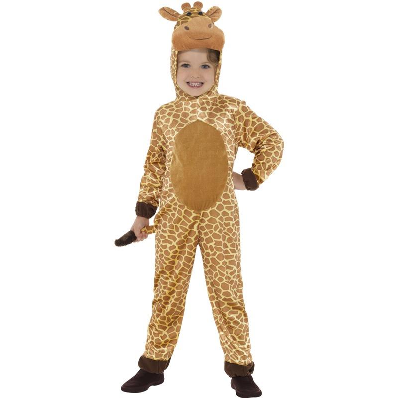 Dieren verkleed kostuum giraffe voor kinderen 130-143 (7-9 jaar) Bruin