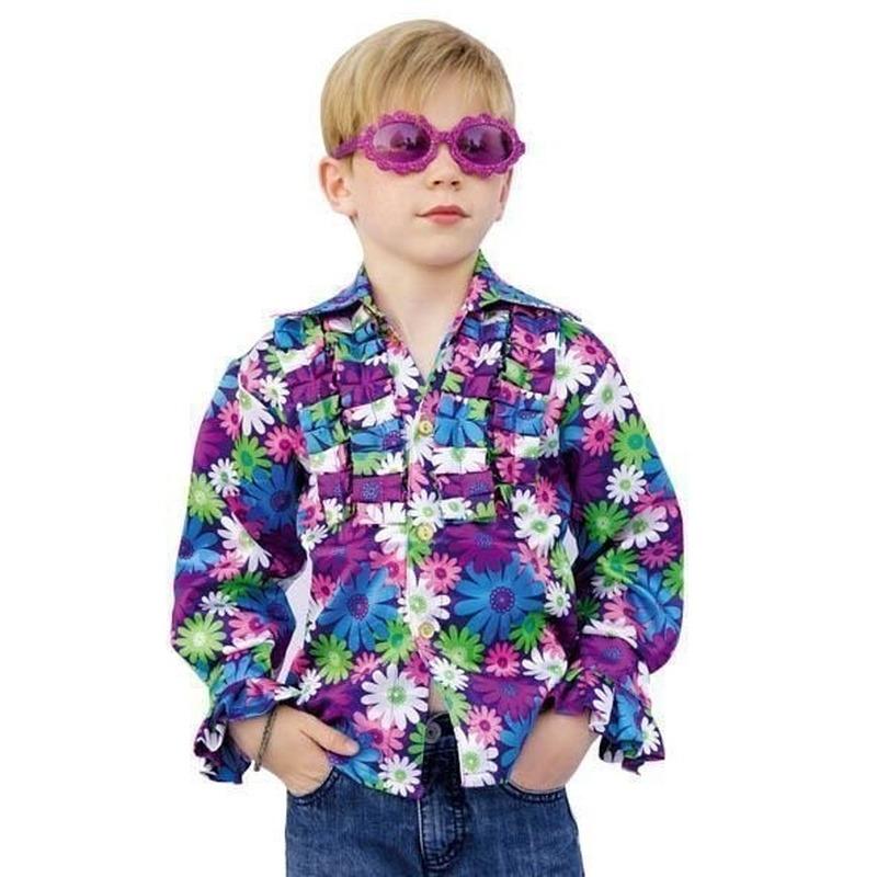 Disco blouse voor kinderen 140 Multi