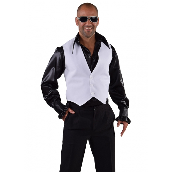 Disco gilet wit voor heren 60-62 (XL) Wit