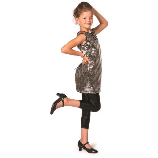 Disco jurkje zilver meiden 164 Zilver