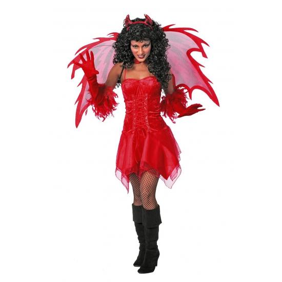 Duivel jurk rood voor dames 40 (L) Rood