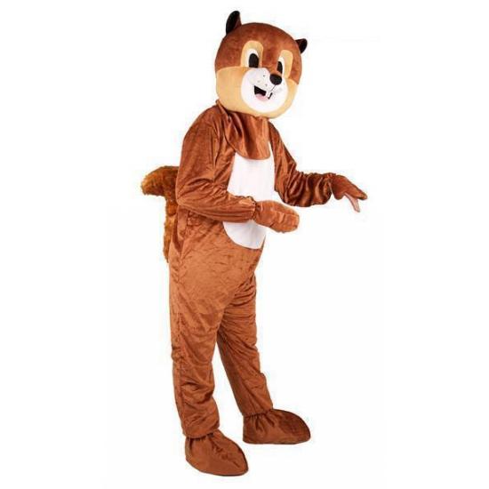 Eekhoorn kostuum met groot pluche masker One size Bruin
